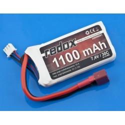REDOX LI-POL 7,4V/1100MAH 30C