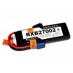 DUALSKY 7.4V/2700MAH RXB 20C/ 2C VOLTAGE METER