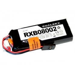 DUALSKY 7.4V/ 800MAH RXB 20C/ 2C