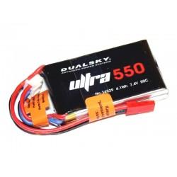 DUALSKY 7.4V/ 550MAH 50C/6C ULTRA