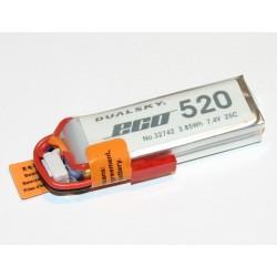 DUALSKY 7.4V/ 520MAH 25C ECO