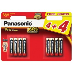BAT. PANASONIC PRO POWER AAA, 4+4SZT. BALTRADE