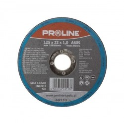 PROLINE TARCZA DO CIĘCIA MEALU 125x22x1,0 MM (44113)