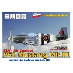 ESA AIRCOMBAT P 51 MUSTANG (BIAŁY) NA POLSKIM NIEBIE
