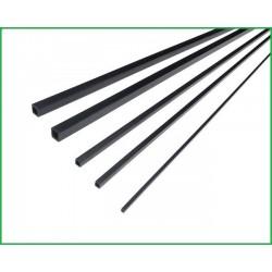 RURKA WĘGLOWA KWADRAT 3*3 *1000 mm (OTWÓR 2 MM)