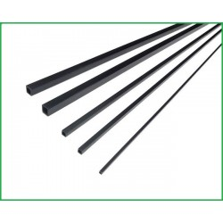 RURKA WĘGLOWA KWADRAT 3*3 *1000 mm (OTWÓR KWADRAT 2*2)