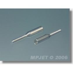 MP2040 KOŃC.BOWDENA 4MM/M2,5 2SZT. ALUMINIOWA