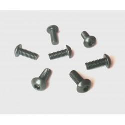 ŚRUBA M4* 6mm (10 szt) kulista S-10,9 ( ISO 7380 ) czarny