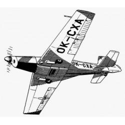 PLANY ZLIN 526 AFS (71s)