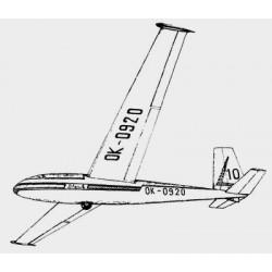 PLANY SZYBOWIEC BLANIK L-13 + L-13J (102S)